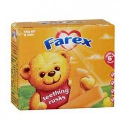 FAREX婴儿食物磨牙棒12支小磨牙棒6个月以上 100克