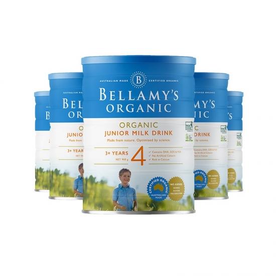 Bellamy's 贝拉米婴儿有机奶粉4段*6罐 包邮