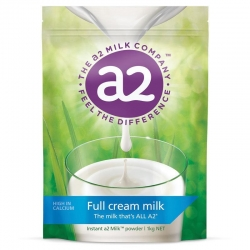 (3袋/6袋可选) a2 高钙全脂奶粉四岁以上(学生/成人/中老年人) 1kg A2成人奶粉