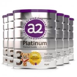 新版A2 Platinum 白金婴幼儿奶粉 3段 900g 3罐/6罐可选  包邮 保质期 2022年6-7月